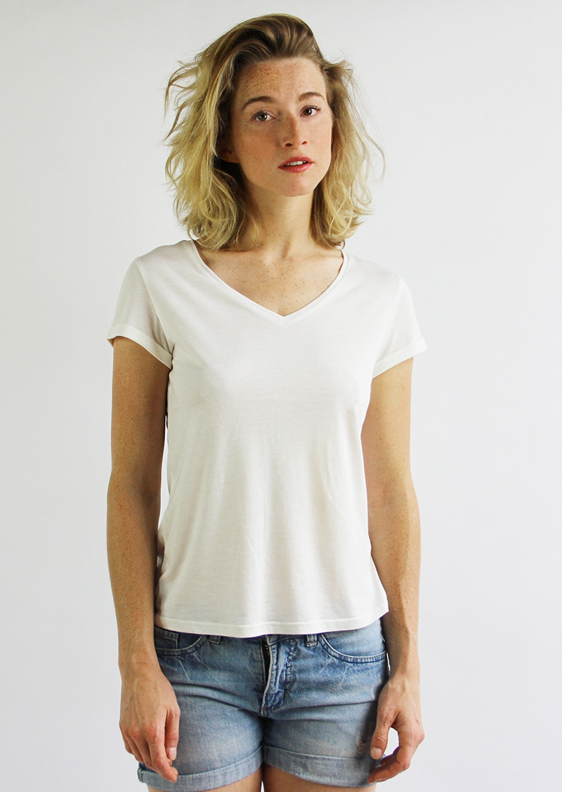 T-shirt Annie en modal écru