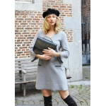 Grey organic fleece dress
