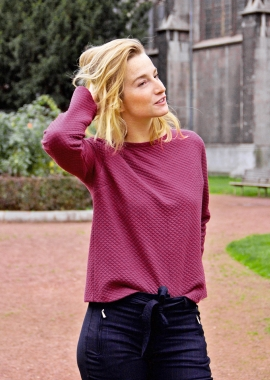 Burgundy back buttoned top