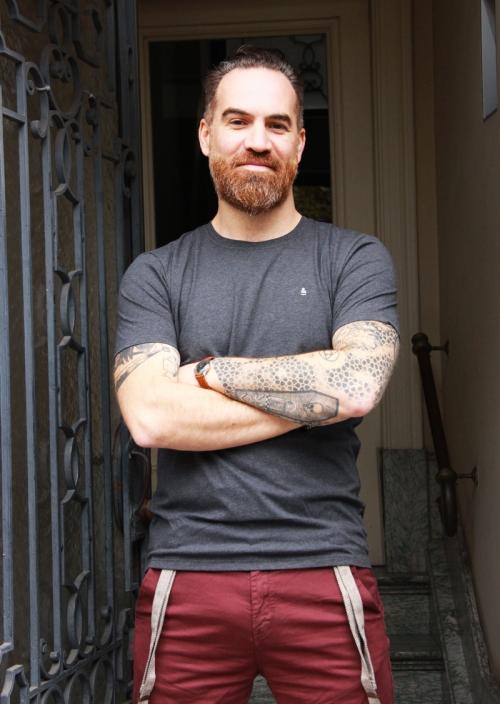 T-shirt en coton biologique gris souris