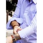 Men shirt - Organic cotton Oxford blue