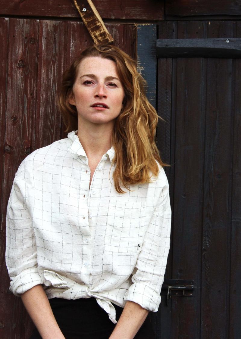 White squared linen shirt Elena