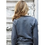Sweat anthracite en coton bio et polyester recyclé