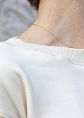 Sweat ecru en coton biologique
