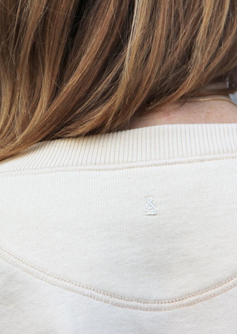 Ecru organic cotton sweater