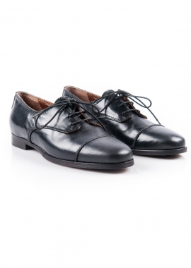Black leather brogue shoe