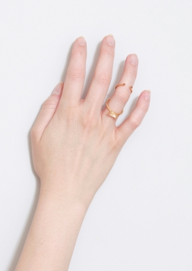 Gold-plated zirconia double ring
