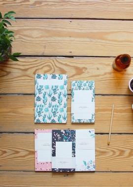 season paper petit bloc-notes aux motifs jardin,fabriqué en france