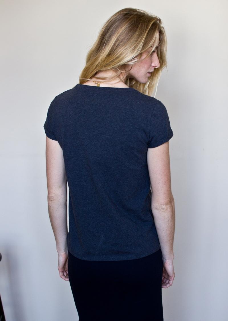 organic cotton t shirt dark grey made in france. Black Bedroom Furniture Sets. Home Design Ideas