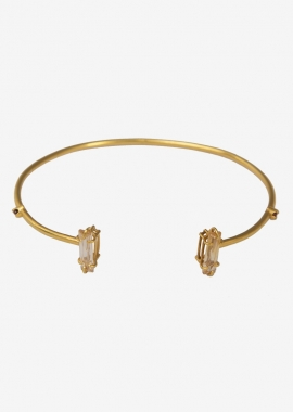 23-karat gold plated zirconia cuff