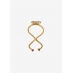 Bague double en plaqué or et zircons