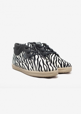 Sneakers NAPOLEON à motif zébré