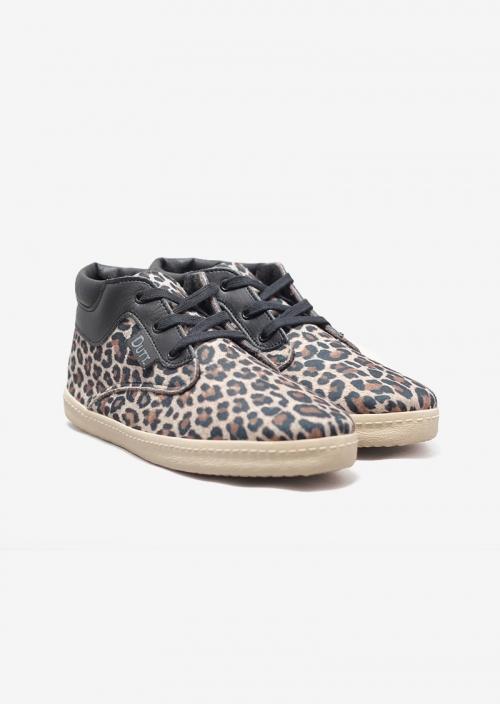 Sneakers NAPOLEON à motif léopard