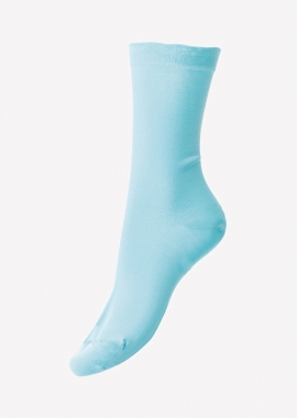Women – Turquoise Sea Island cotton socks