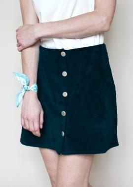 La jupe Agnes - Velours noir