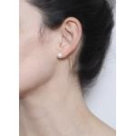 Boucle d'oreille perle en argent plaqué or 23kt
