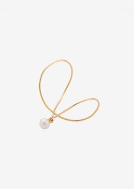 "Bague perle « Infinity"" plaqué or 23kt"
